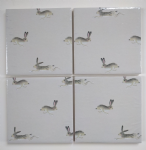 4 Ceramic Coasters in Sophie Allport Mini Hares